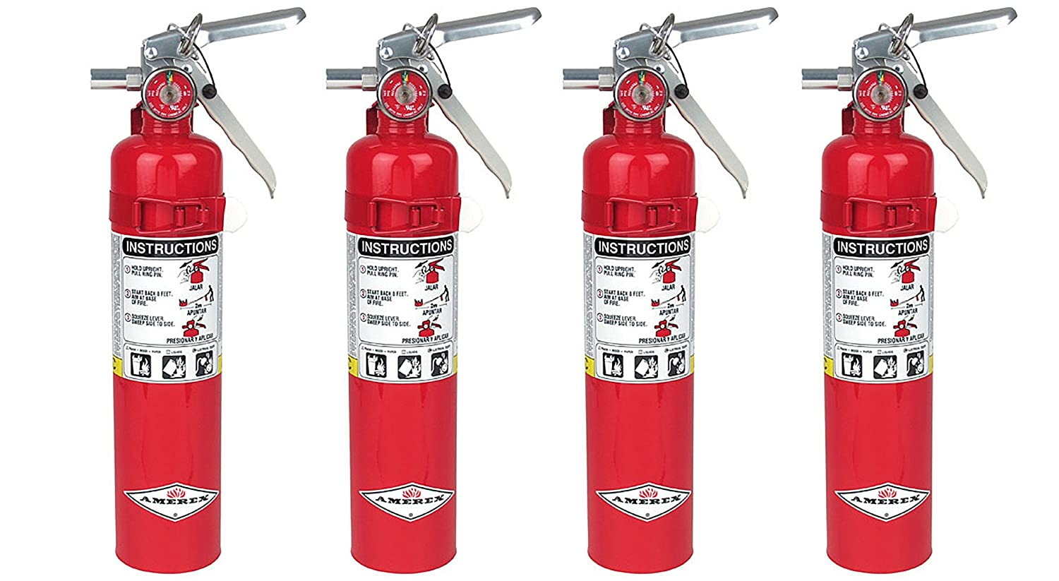 Amerex B417, 2.5lb ABC Dry Chemical Class A B C Fire Extinguisher, with Wall Bracket 4, 5.25 pounds