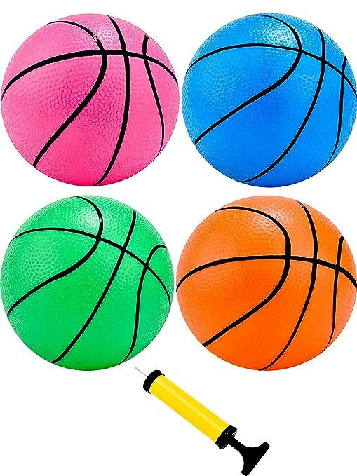 Tecunite Juego de 4 mini pelotas de baloncesto de 12,7 cm ...