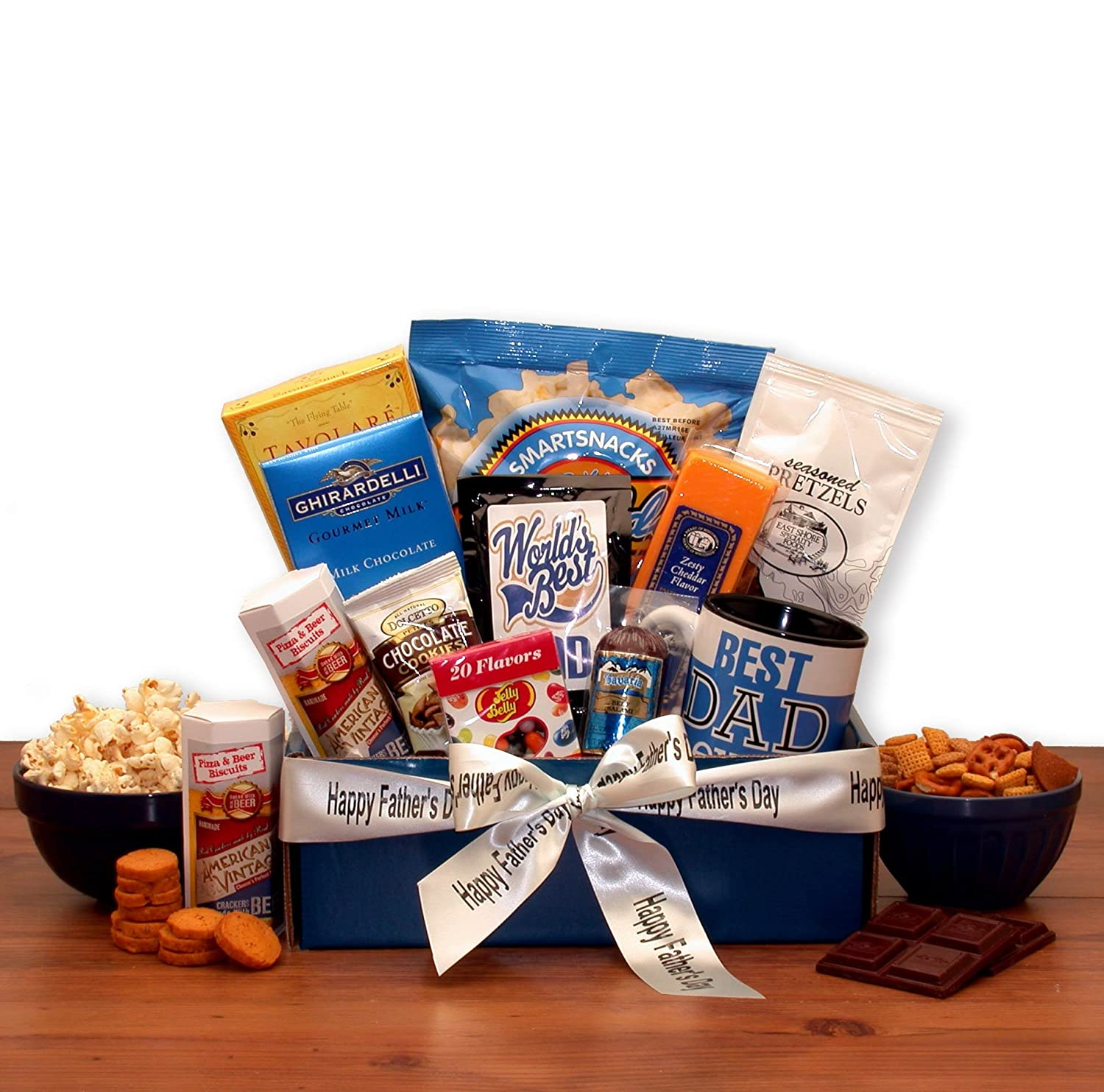 Amazon.com : Father's Day Gift Basket My Dad Is The Best Gourmet Gift Box Gift For Dad : Grocery & Gourmet Food