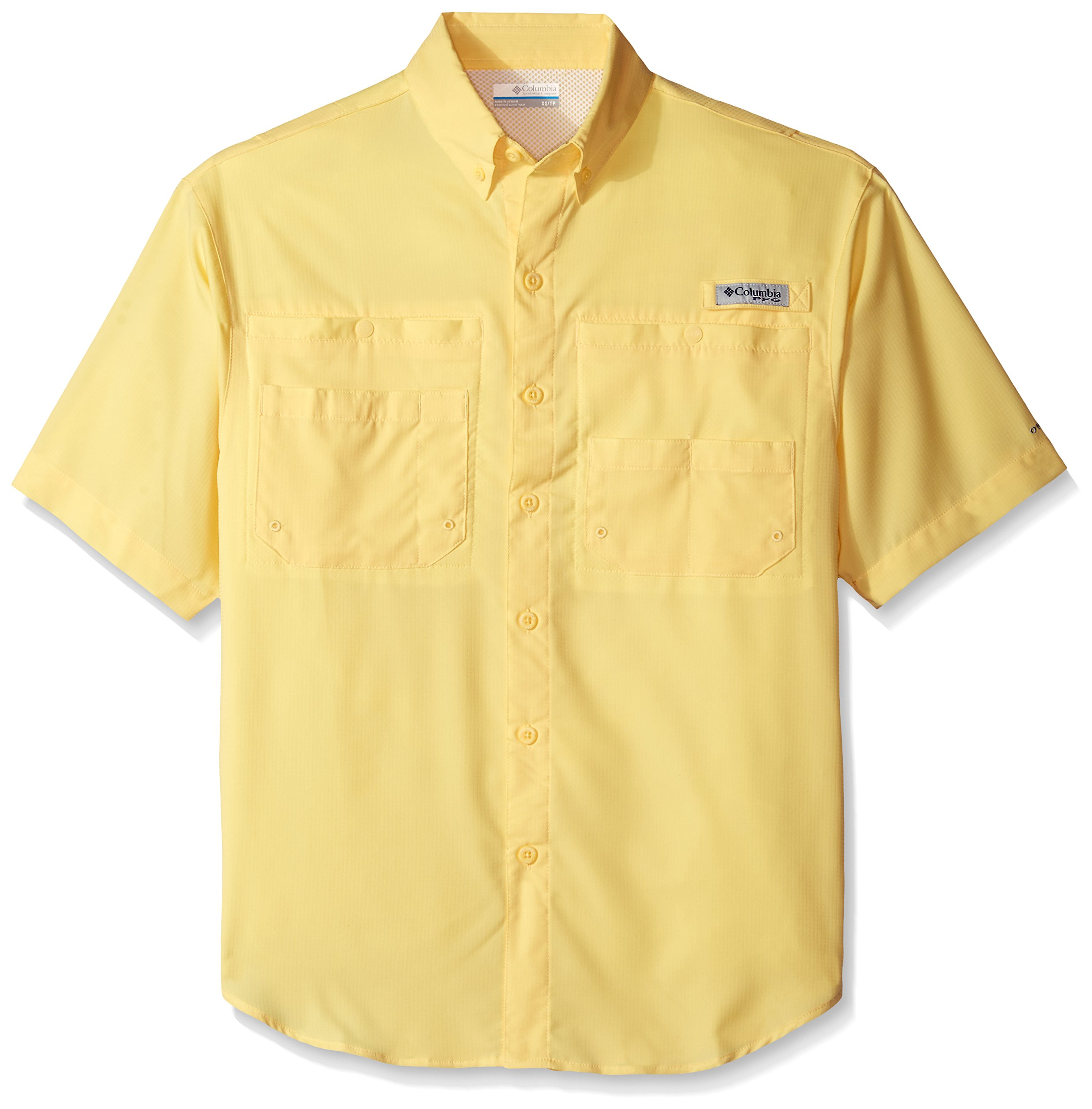 Columbia Men's Tamiami II Short Sleeve Fishing Shirt, Sunlit, X-Small