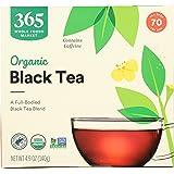 365 by Whole Foods Market, Organic Black Tea - Contains Caffeine (70 Tea Bags), 4.9 Ounce