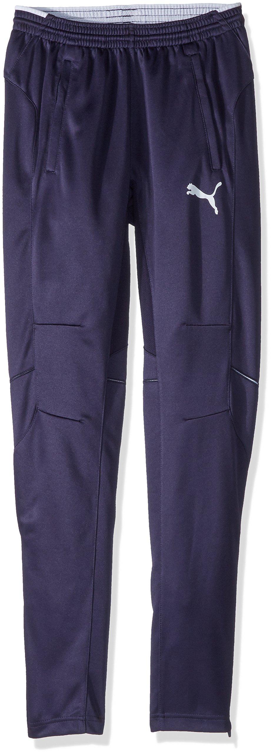 PUMA Men's Training Pant, New Navy/White, YXS