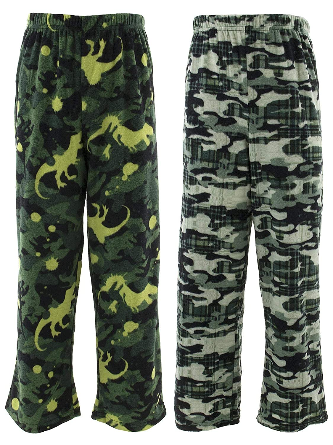 Cuddl Duds Little Boys Green Camo 2-Pack Fleece Pajama Pants