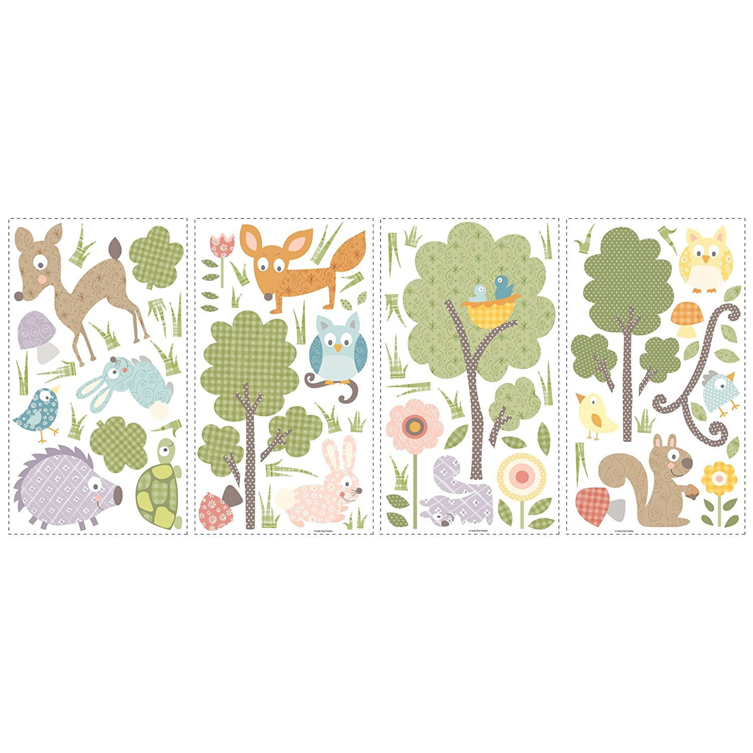Roommates repositionable childrens wall stickers woodland roommates repositionable childrens wall stickers woodland animals amazon kitchen home amipublicfo Images