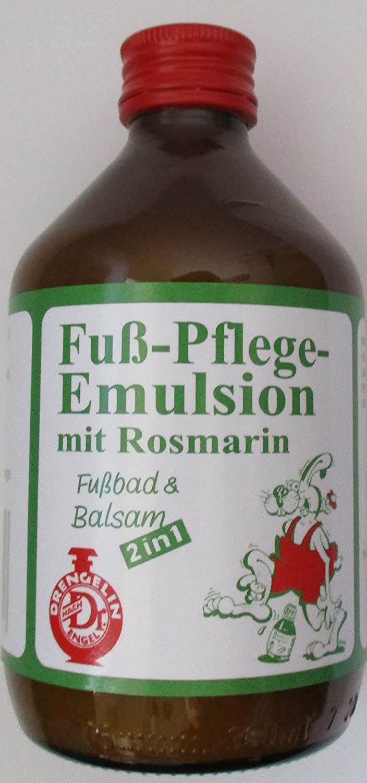 Drengelin - Fuß-Pflege-Emulsion mit Rosmarin - Fußbad & Balsam 300ml