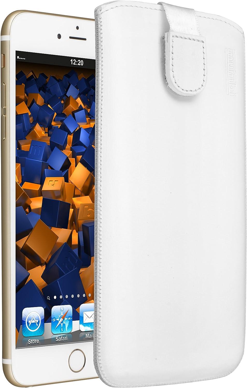 mumbi Genuine Leather Case Compatible with iPhone 6 Plus / 6S Plus White