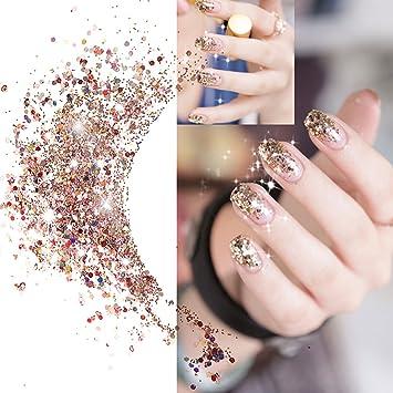 Laconile 48 colores purpurina polvo lentejuelas cara cuerpo pelo uñas purpurina para adelgazar y arte & Crafts purpurina: Amazon.es: Hogar