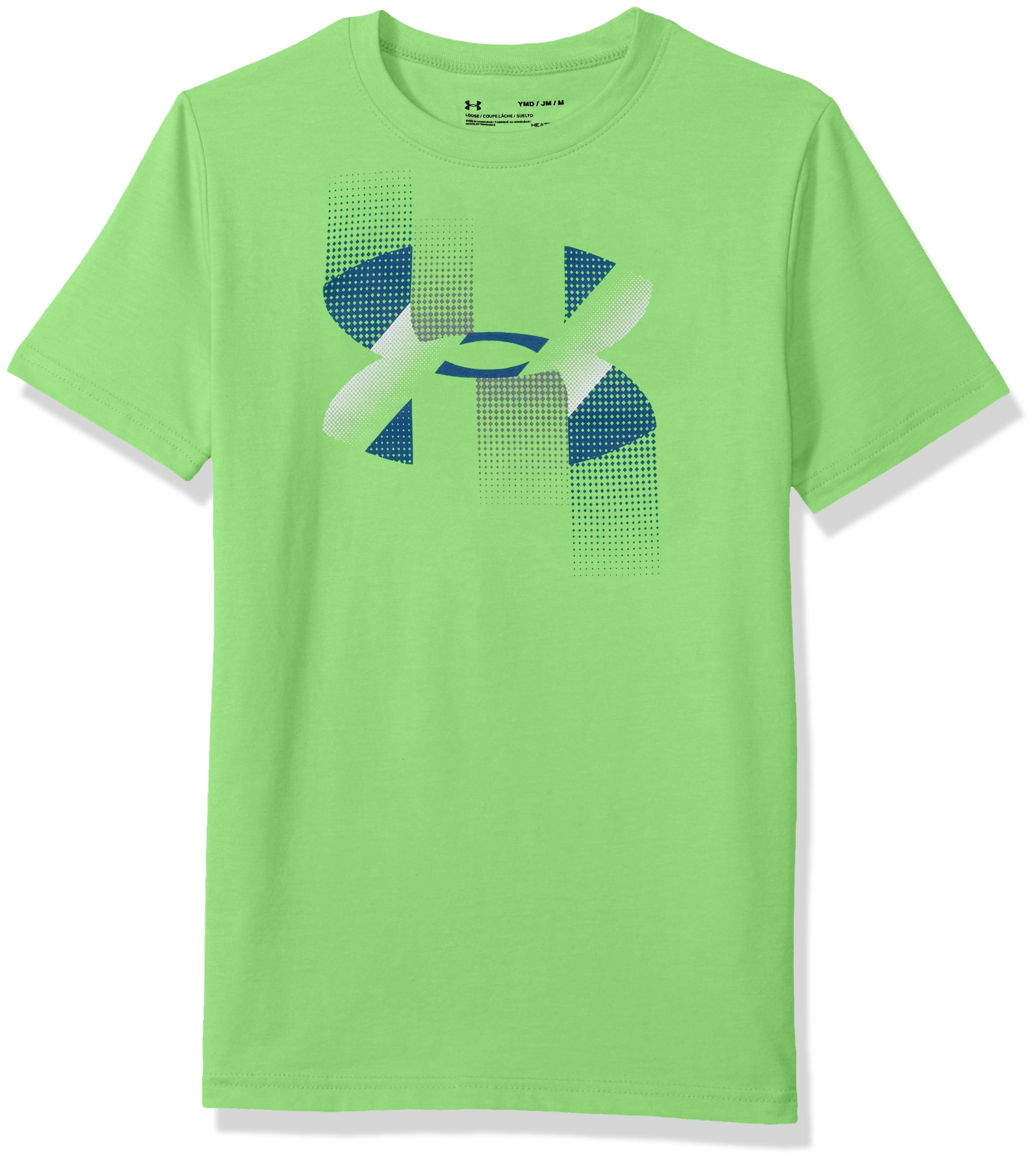Under Armour Boys' Rapid Logo T-Shirt, Mantis (322)/Moroccan Blue, Youth X-Small