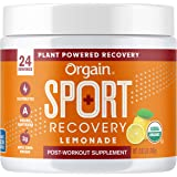 Orgain Lemonade Sport Recovery Post-Workout Powder - Made with Apple Cider Vinegar, Turmeric, Ginger, and Ashwaganda…