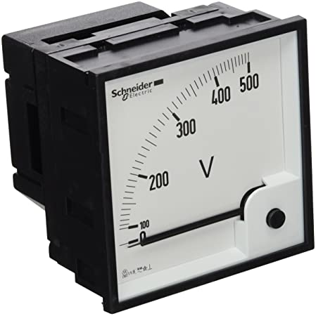 Schneider Electric 16075 Vlt 96 x 96 0-500V, White