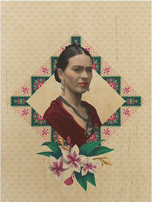 Bilderwelten Frida Kahlo - Cuadro de Madera (Formato 4:3 Vertical ...
