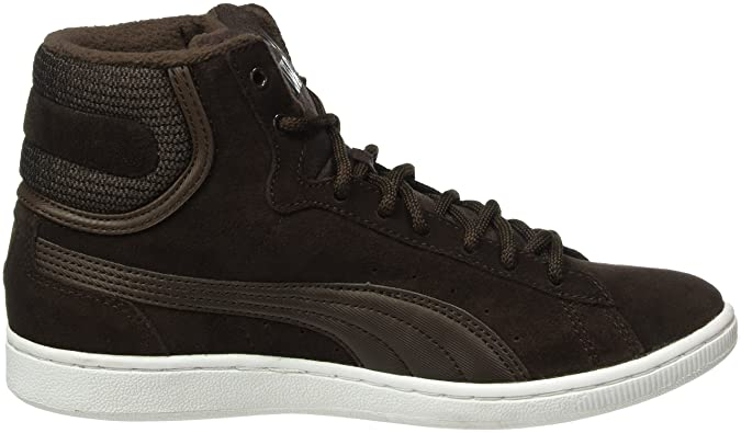PumaPuma Vikky Mid Twill Sfoam - Scarpe da Ginnastica Basse Donna, Marrone (Black Coffee-Black Coffee 02), 39 EU