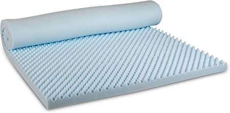 Visco Therapy Coolblue Egg Profile Mattress Topper In Cool Blue