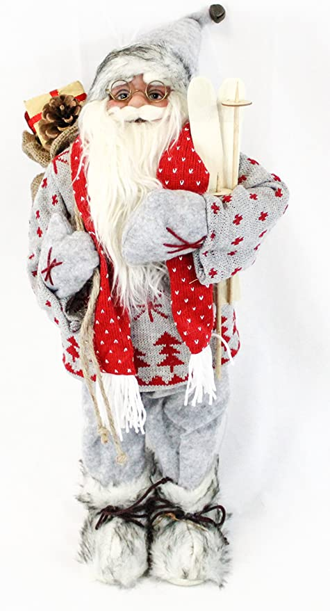 Babbo Natale 60 Cm.Pupazzo Di Babbo Natale Decorativo Figura Ca Decorazione Natalizia A Forma Di Babbo Natale 60 Cm 6 Diversi Modelli A Scelta Amazon It Casa E Cucina