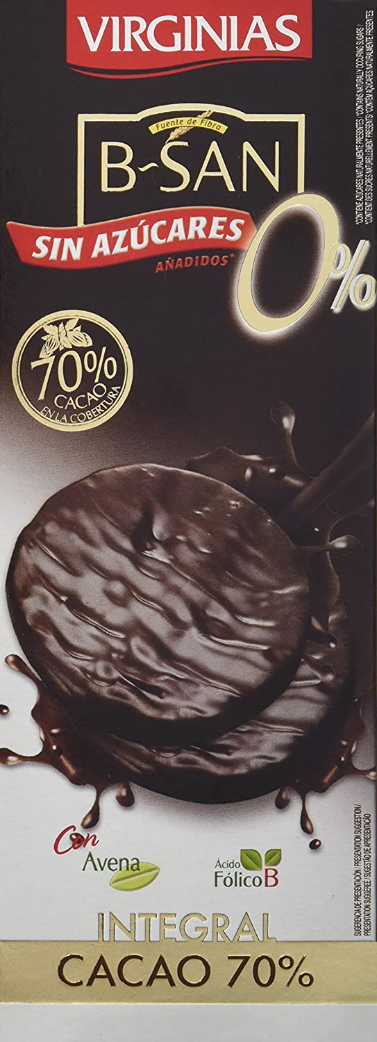 Galleta Virginias B-San Chocolate Nege 70% Sin Azúcares Añadidos - 120 g: Amazon.es: Amazon Pantry