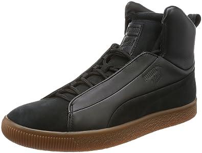half off c0c53 f3f0e Puma Clyde FSHN Mid Naturel Black: Amazon.co.uk: Shoes & Bags