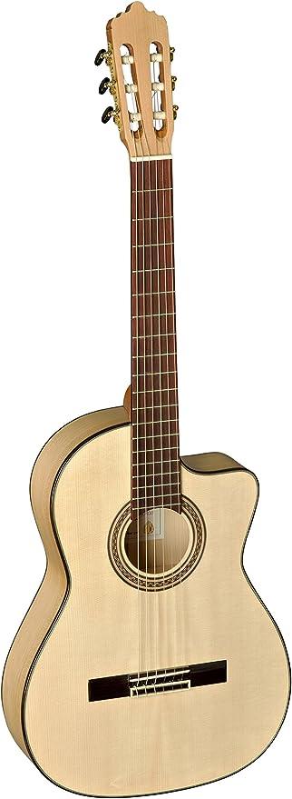 La Mancha 211268 Ambar CWE Flamenco guitarra clásica, tapa sólida ...