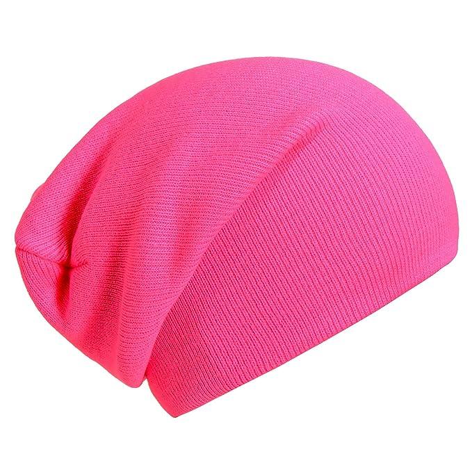 Gorro clásico barato de color rosa neón