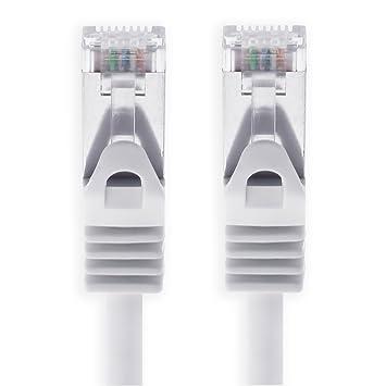 Cable Ethernet Cat7 Cat.7 Gigabit Cable de Red LAN con Conector Cat6a RJ45 (con Doble blindaje) 500 MHz Blanco: Amazon.es: Electrónica