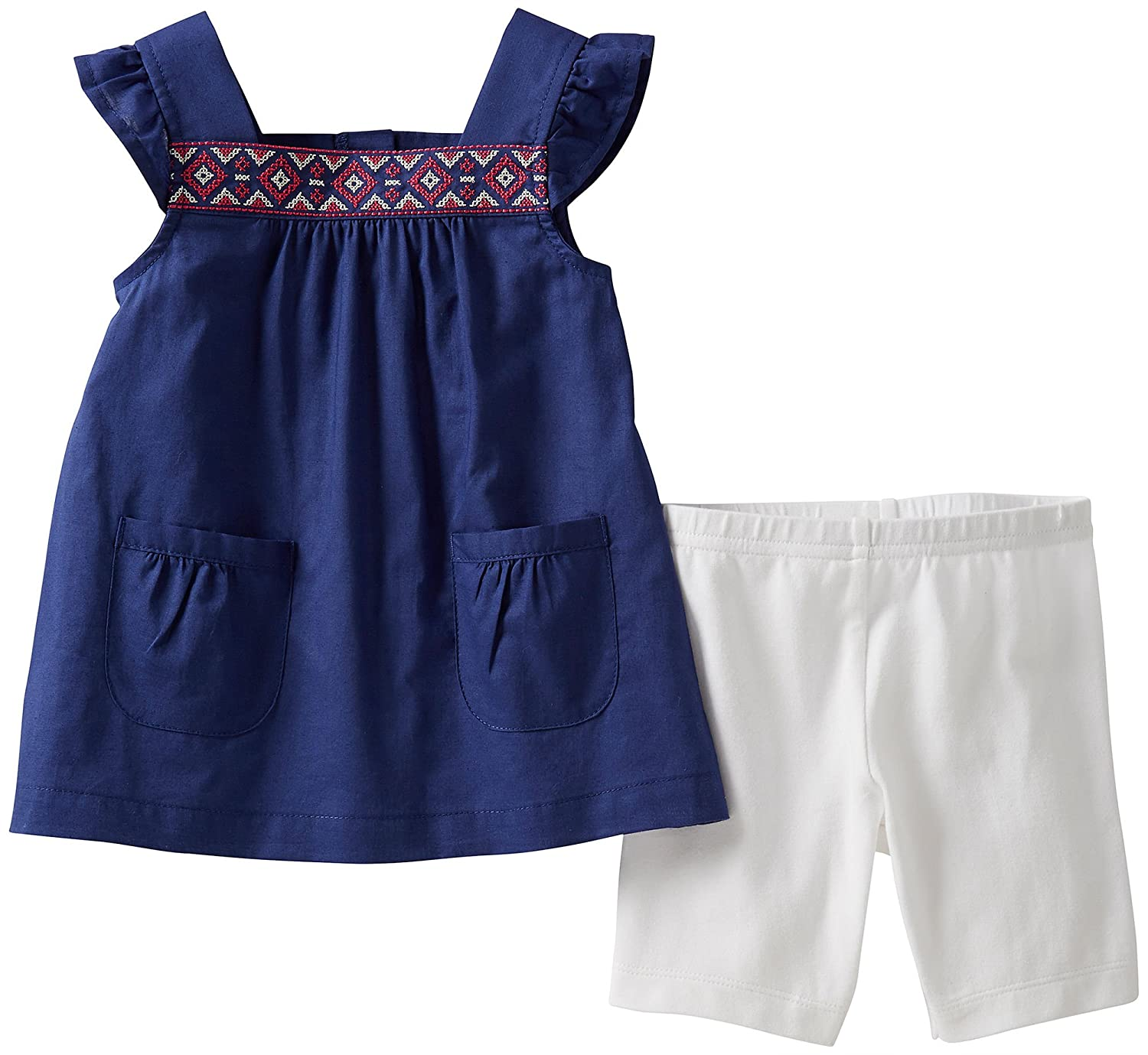Amazon Carter s Baby Girls 2 Piece Embroidered Shorts Set