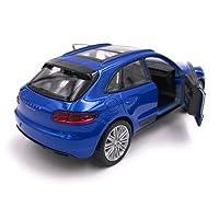 Welly Porsche Macan SUV modèle de licence de voiture produit 1: 34-1: 39 Blue