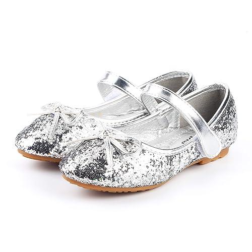 595ed2c796582 Nova Utopia Toddler Little Girls Flower Girl Dress Ballet Mary Jane Bow  Flat Shoes
