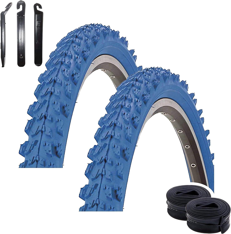 2 x Pneus 26 X 1.95 montagne MTB de vélo de route pneus de vélo 2 Presta Tubes