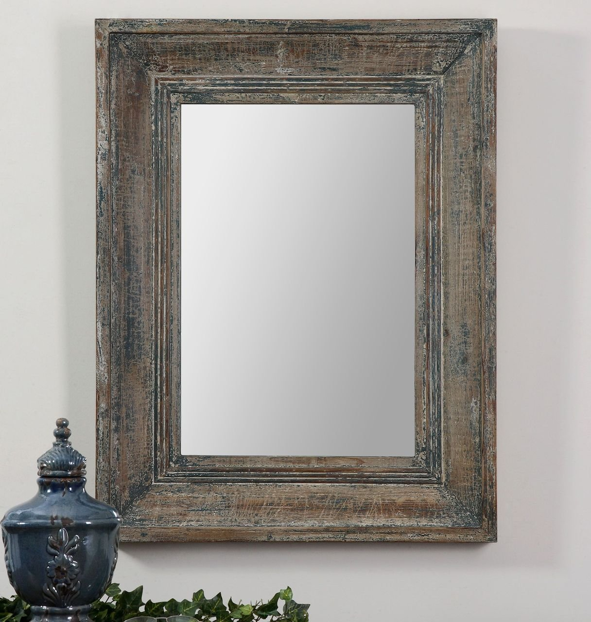 Amazon.com: Aged Teal Blue Green Wall Mirror | Wood Cottage Vanity  Distressed: Home & Kitchen - Amazon.com: Aged Teal Blue Green Wall Mirror Wood Cottage Vanity