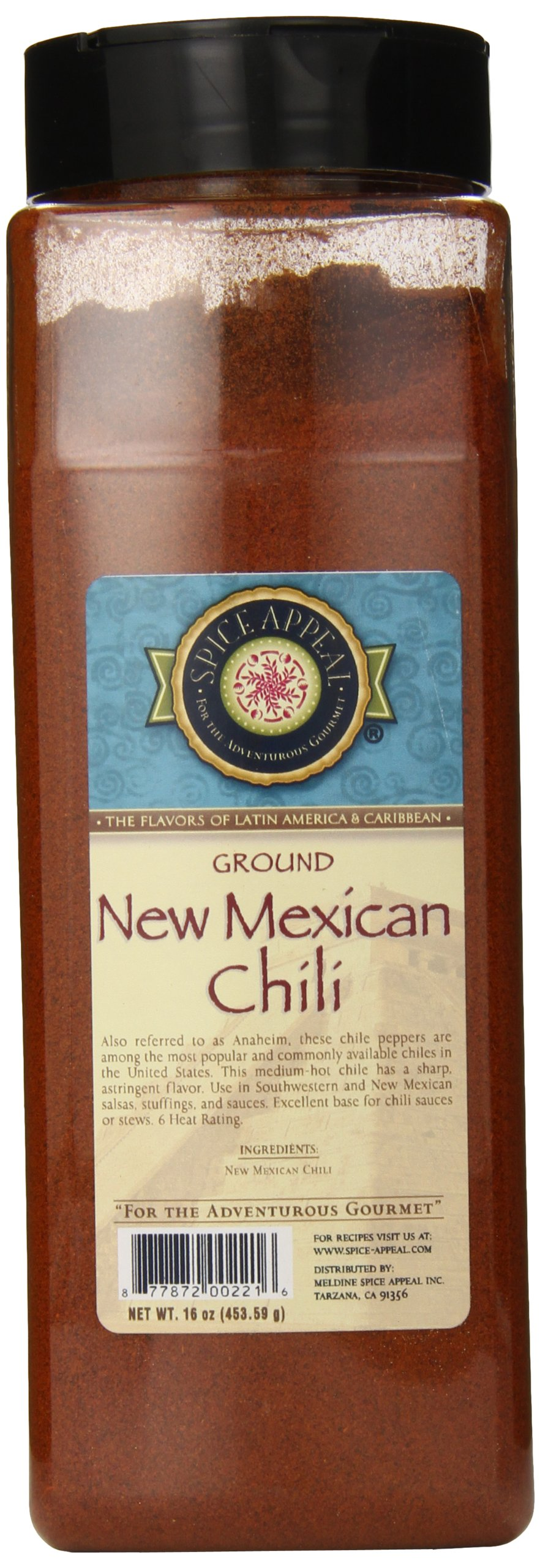 Spice Appeal New Mexican Chili Ground, 16 Ounce by Spice Appeal