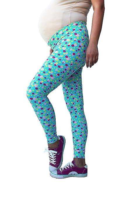 Polka dot print, de puntos, Leggings de maternidad para mamas, leggings deportivos,