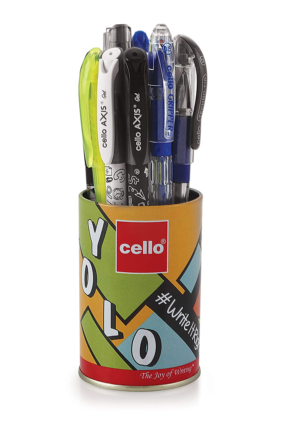[Apply coupon] Cello Yolo Stationery Combo Pack (12 Stationery Items)|Includes Ball pens, Gel pens,Whiteboard Markers, Permanent marker, Highlighters & Mechanical Pencil| Perfect pack for school and college students