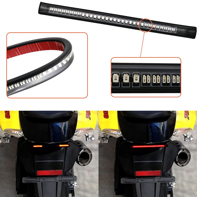 Universal 8' 48 Led Harley Davidson Light Strip Tail Brake Stop Turn Signal Flexible led light for motorcycle NAWINNER