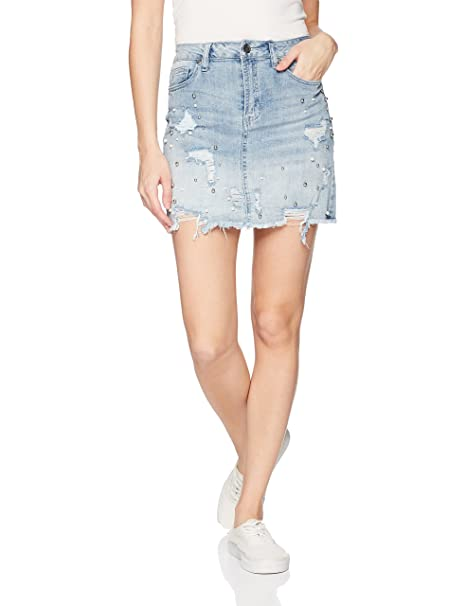 4758e0ce16f dollhouse Women's Adeline Denim Skirt at Amazon Women's Clothing store: