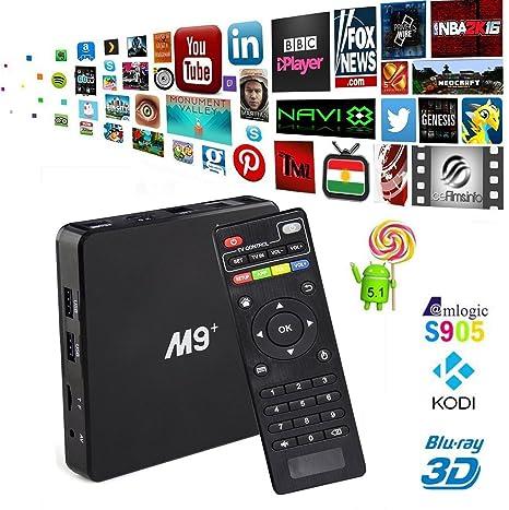 trongle M9 Plus M9 + Android TV Box Amlogic s905 Kodi totalmente integrado beladene Android 5.1 Lollipop OS TV CAJA ...
