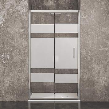 Vilnius - Mampara de ducha de cristal templado serigrafiado de 6 ...
