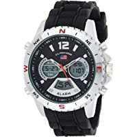 U.S. Polo Assn. Sport Men's Quartz Metal and Rubber Casual Watch US9550