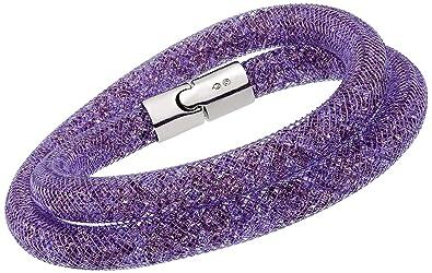 209e5f54a Amazon.com: Swarovski Stardust 5140103 Purple Crystals double wrap ...