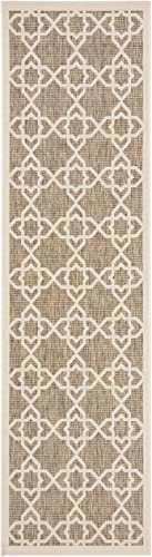 Safavieh Courtyard Collection CY6032-242 Brown and Beige Indoor Outdoor Area Rug 2 x 3 7