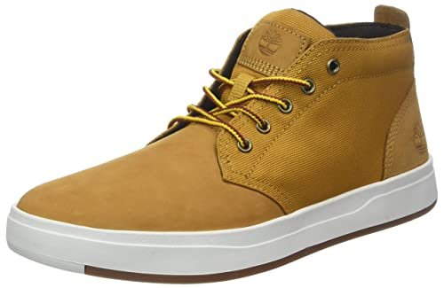 5e680851e93 Timberland Mens Davis Square Mixed-Media Chukka Sneaker