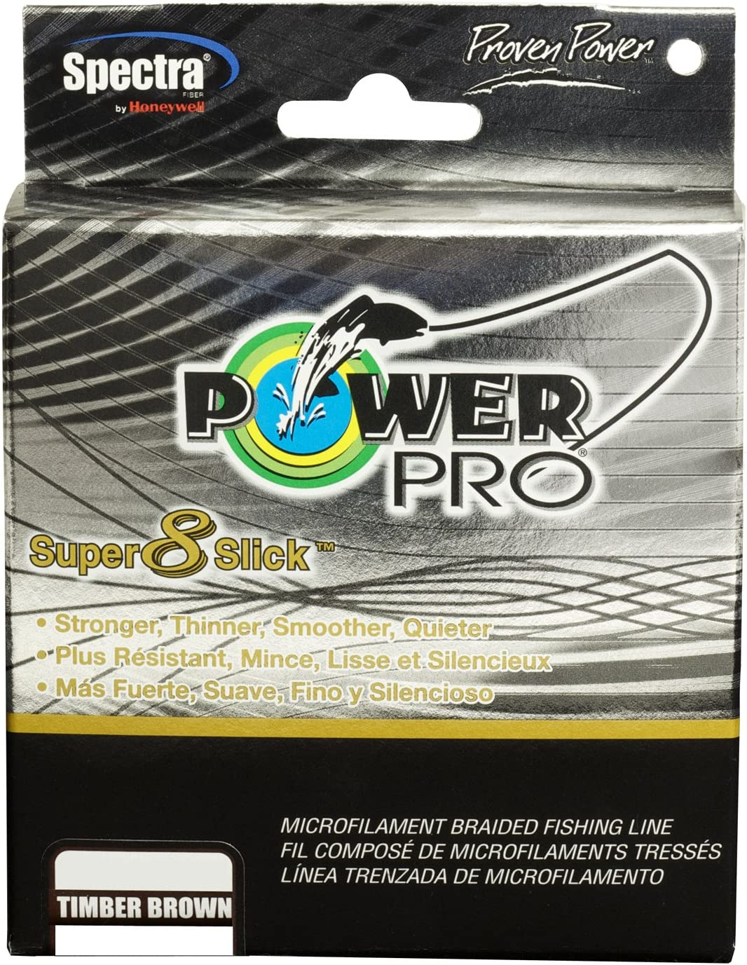 POWER PRO Powerpro Super 8 Slick Line 150 -Yard Timber Brown – 65-Pound Test