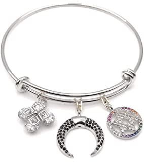 Evereena Silver Beads Bracelet for Girls Dad Charm Gift Father Womens Jewelry