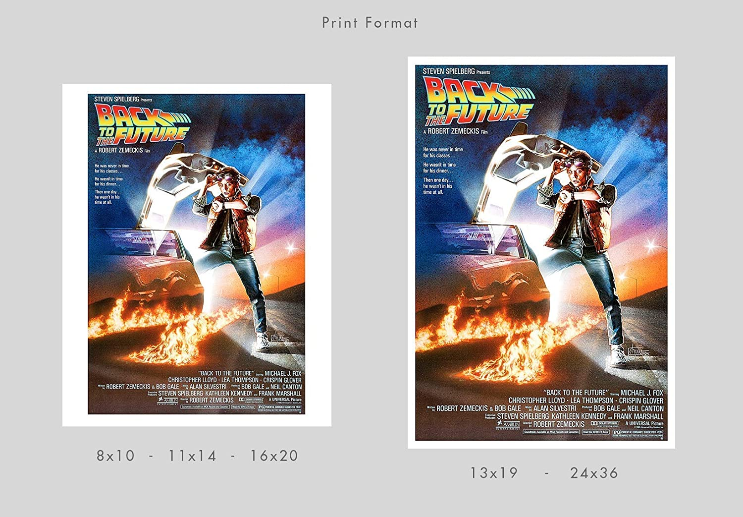Movie poster print by delovely Arts Back to the Future