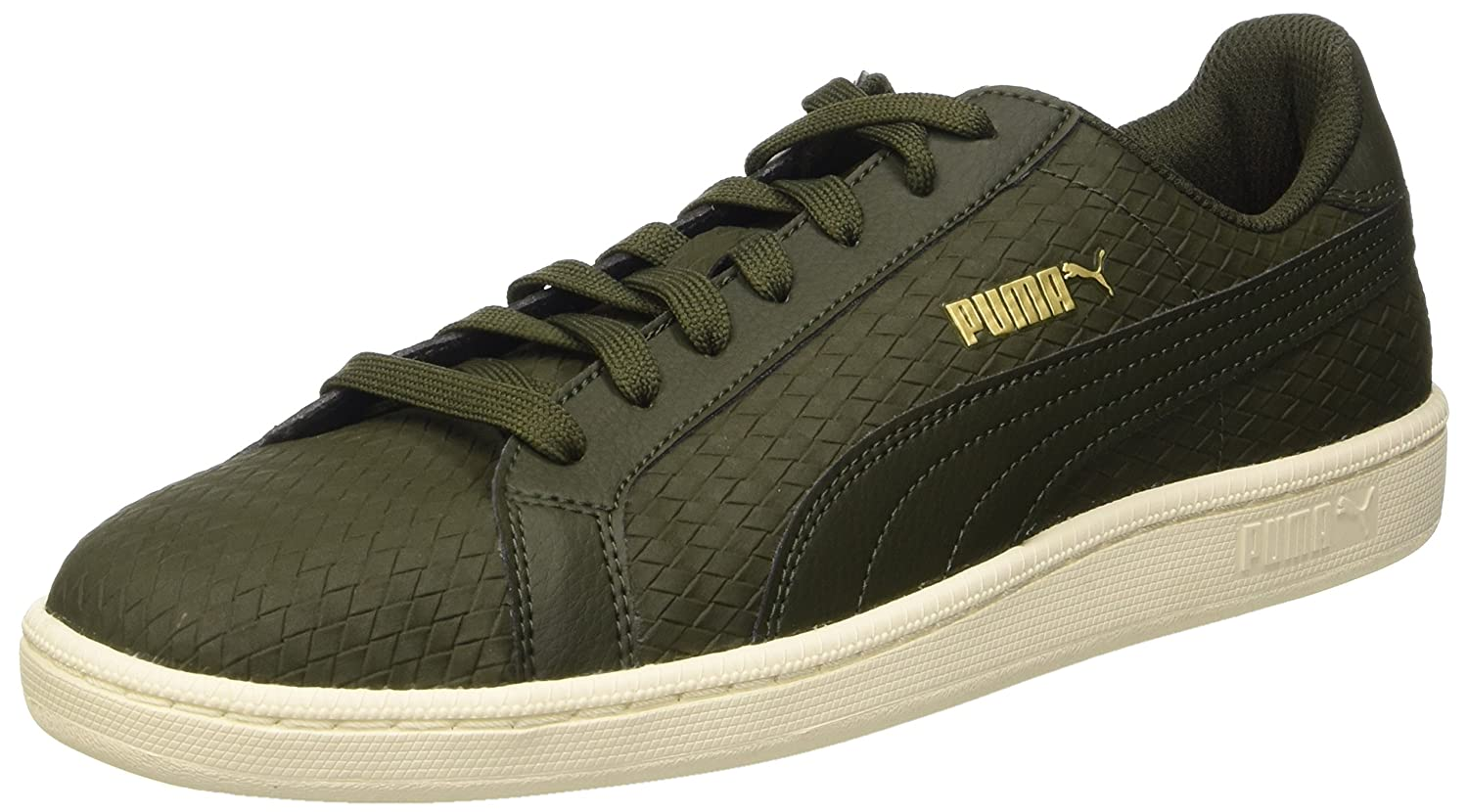 Puma Smash Woven Sneaker  7.5|Verde (Forest Night/Forest Night)