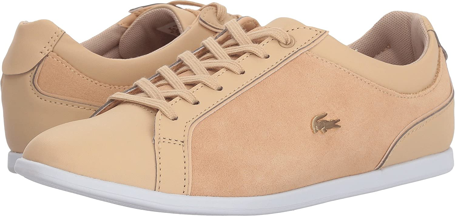 Lacoste Women's Rey Lace Sneaker B079J1TZ82 7 B(M) US|Natural/White