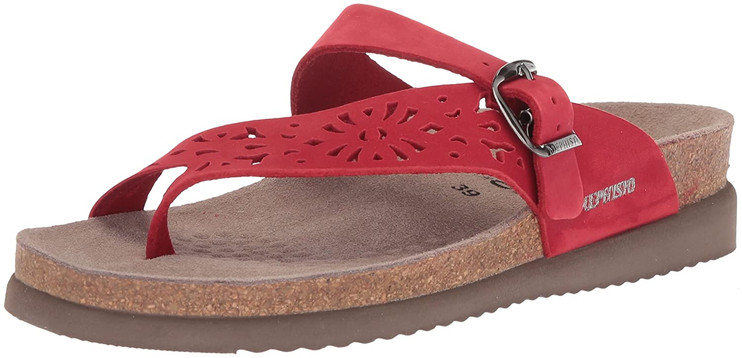 Red Mephisto Women's Helen Thong Sandal