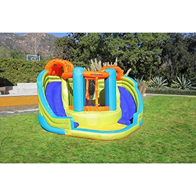 Sportspower My 1st Water Slide Double Water Slide with Bounce House INF-2079: Toys & Games