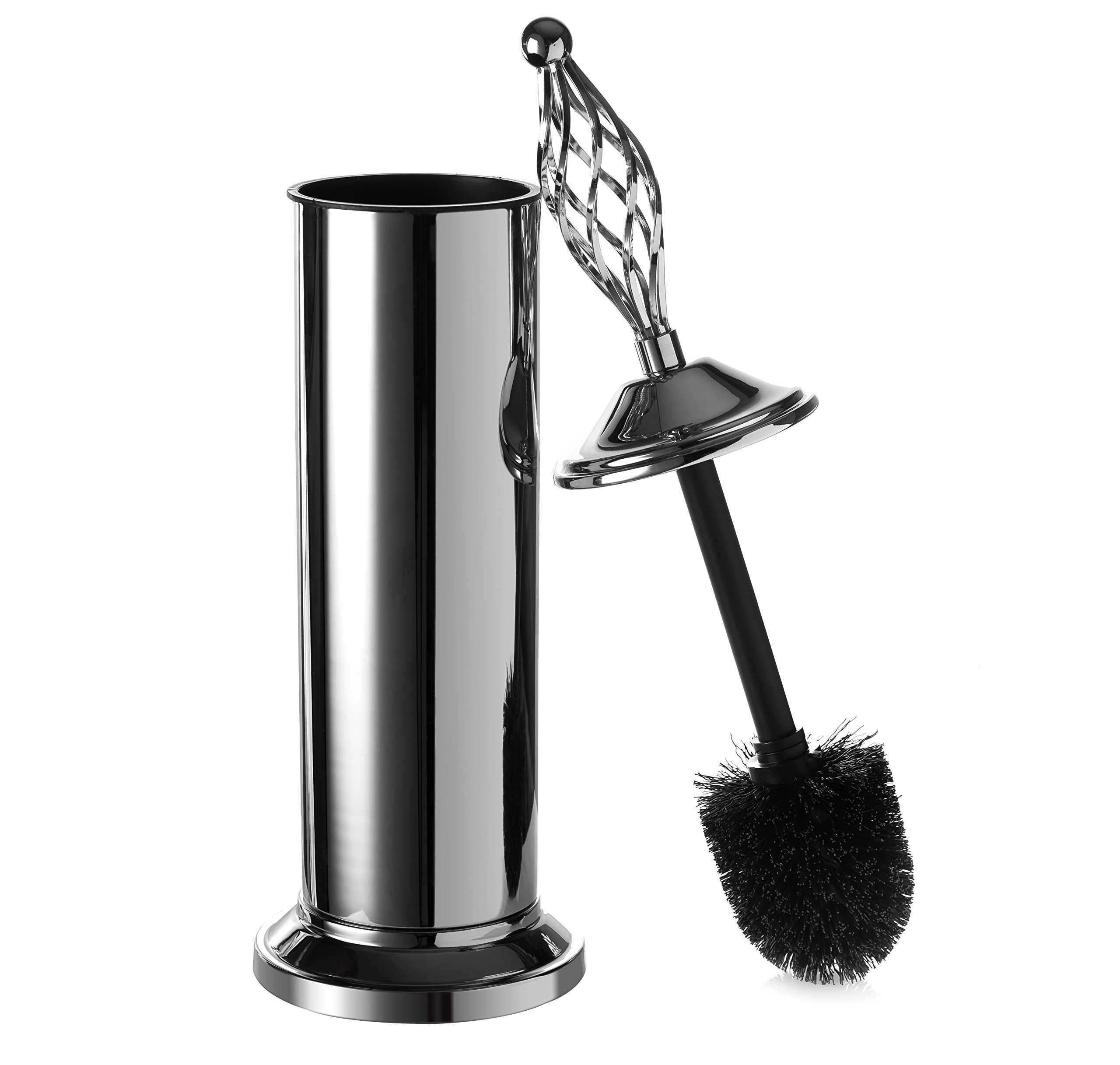 AMG and Enchante Accessories, Twisted Cage Toilet Brush and Holder, TB100004 CHR, Chrome
