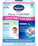Infant and Baby Cold Medicine, Hyland's Baby Mucus + Cold Relief, Day & Night Value Pack, Decongestant and Cough Relief…