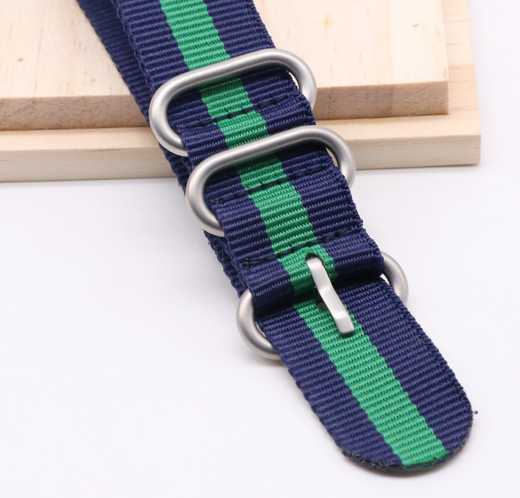 22mm Ballistic Nylon Watch Band with NATO Design 4 Pack by autulet (Image #4)