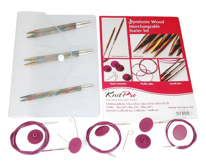 Knit Pro Symfonie Wood Circular Needle Interchangeable Starter Set